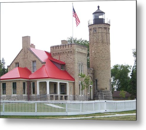 Michigan Metal Print featuring the photograph Old Mackinac Lighthouse by Jennifer King