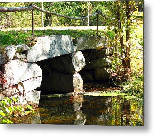 Bridge Metal Print featuring the photograph Old Stone Bridge by Barbara McDevitt