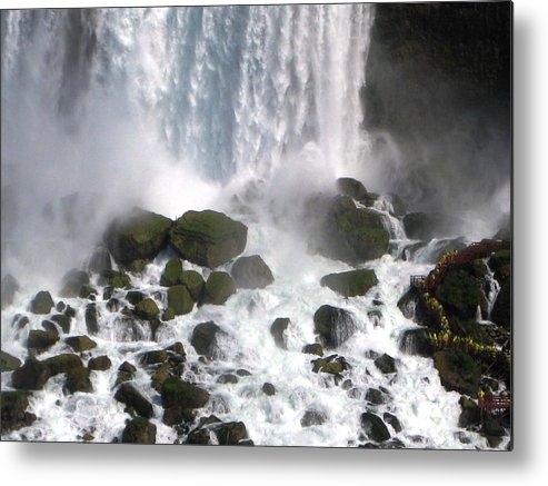 Waterfall Metal Print featuring the photograph On The Rocks by Dervent Wiltshire