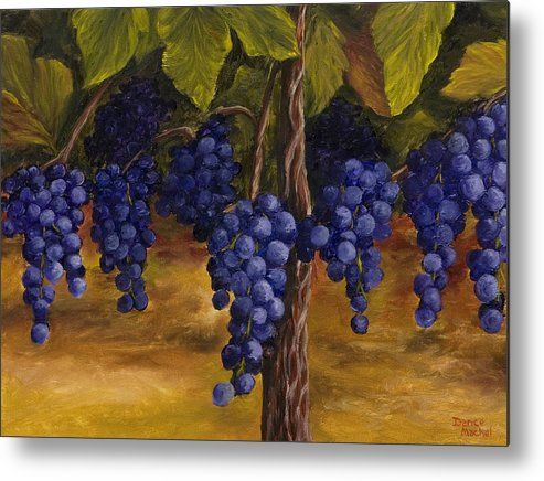 Kitchen Art Metal Print featuring the painting On The Vine by Darice Machel McGuire