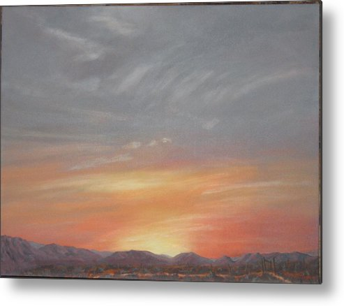 Western Metal Print featuring the painting Open To All by Janis Mock-Jones