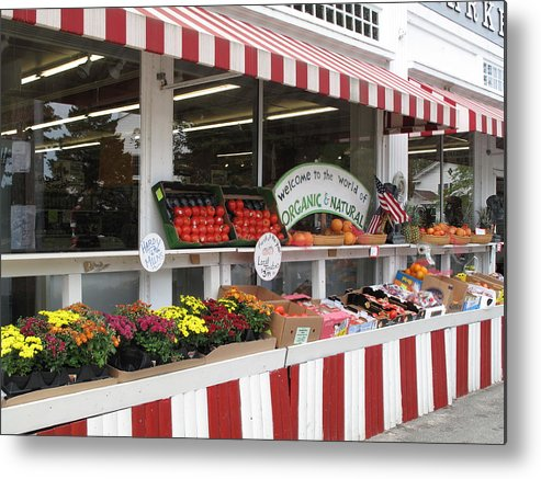 Produce Metal Print featuring the photograph Organic And Natural by Barbara McDevitt