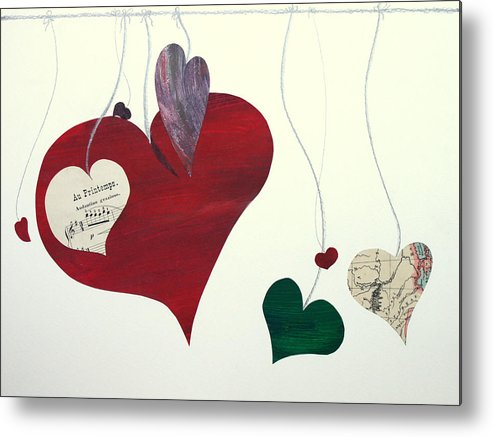 Love Metal Print featuring the mixed media Our Hearts Beat For This World by Jolly Van der Velden