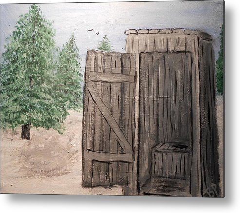 Outhouse Metal Print featuring the painting Out House by Brian Peterson