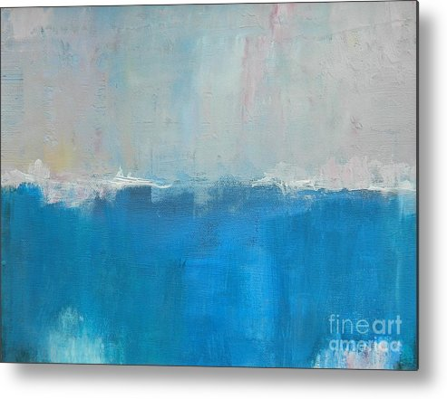 Abstract Metal Print featuring the painting Overcast by Kate Marion Lapierre