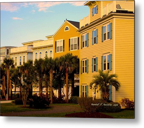 Kendall Kessler Metal Print featuring the photograph Palm Tree Beauty At Isle Of Palms by Kendall Kessler