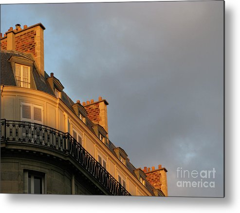Paris Metal Print featuring the photograph Paris At Sunset by Ann Horn