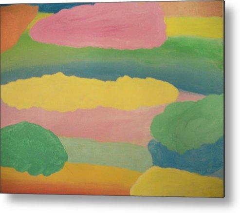 Healing Art Metal Print featuring the painting Pastel Rainbow Clouds by Leonardo Vidal