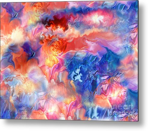 Spano Metal Print featuring the painting Pastel Storm By Spano by Michael Spano