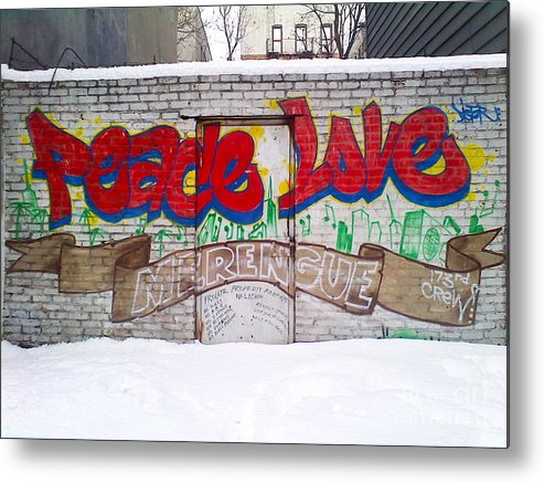Color Metal Print featuring the photograph Peace Love by Maritza Melendez