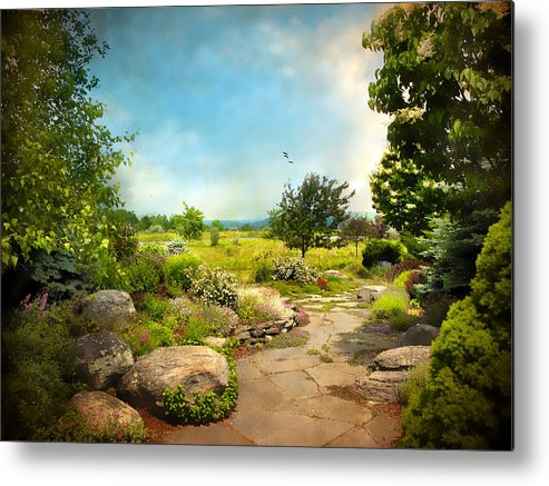 Landscape Metal Print featuring the photograph Peaceful Path by Jessica Jenney