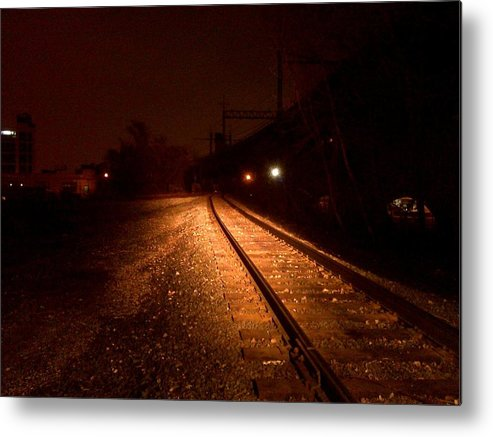 Railroad Metal Print featuring the photograph Tracks by Azy Foley Photography