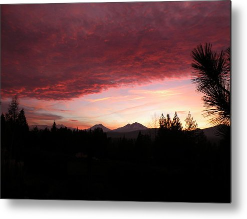 Sunset Metal Print featuring the painting Pink by Jennifer Lake