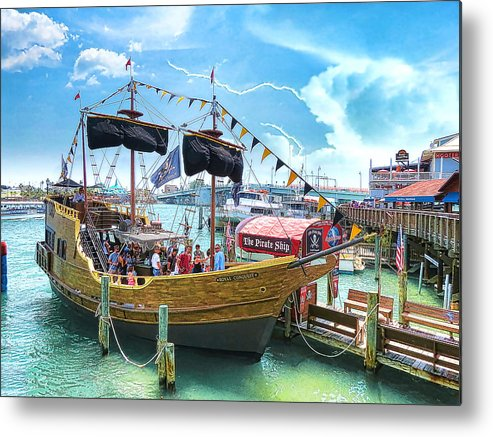 Pirate Ship Metal Print featuring the photograph Pirate Ship by Stephen Warren