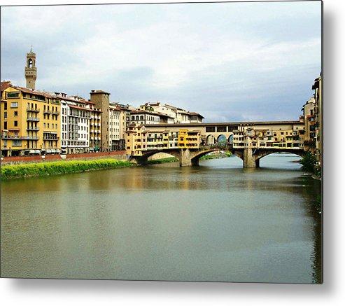 Ponte Vecchio Metal Print featuring the photograph Ponte Vecchio 1 by Ellen Henneke