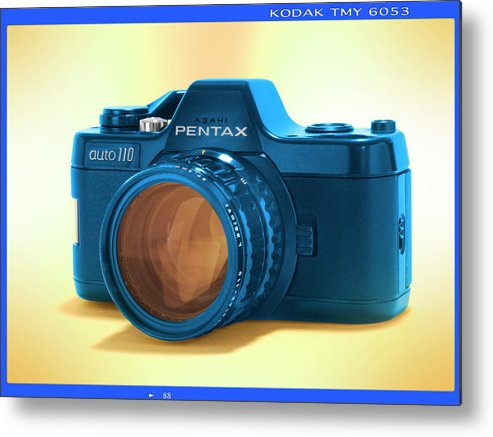 Vintage 110 Pentax Metal Print featuring the photograph Pop Art 110 Pentax by Mike McGlothlen