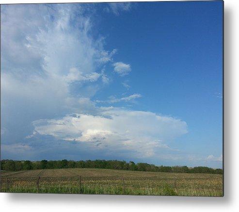 Thunderstorm Metal Print featuring the photograph Prairie Thunder by Caryl J Bohn