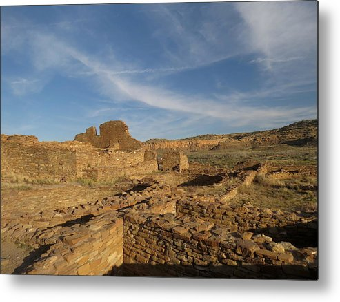 Chaco Metal Print featuring the photograph Pueblo Bonito Walls And Rooms by Feva Fotos