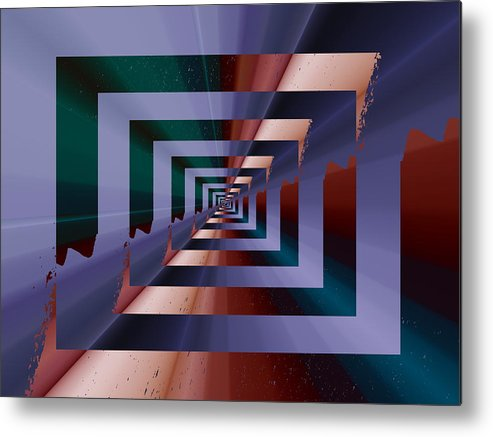 Quantum Metal Print featuring the digital art Quantum Conundrum by Tim Allen