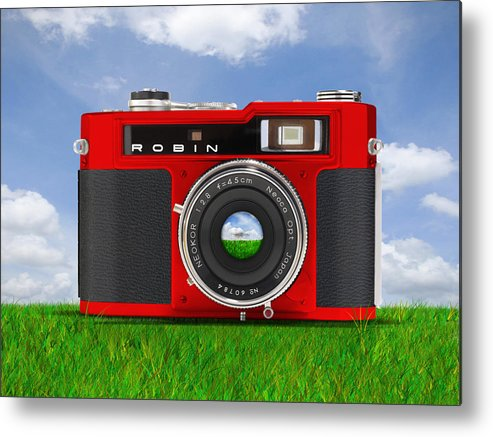 Pop Art Metal Print featuring the photograph Red Robin by Mike McGlothlen