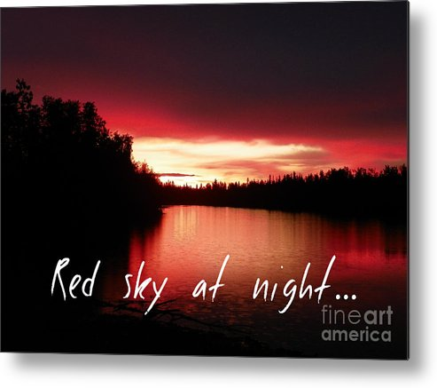 Red Metal Print featuring the photograph Red Sky At Night by Jennifer Kimberly