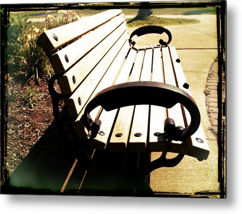 Landscape Metal Print featuring the digital art Relaxing On Campus by Kilmeny Boates