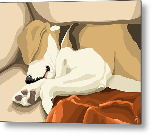 Digital Metal Print featuring the painting Rest by Veronica Minozzi