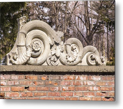 Architectural Salvage Metal Print featuring the photograph Reused Architectural Salvage by Eric Swan