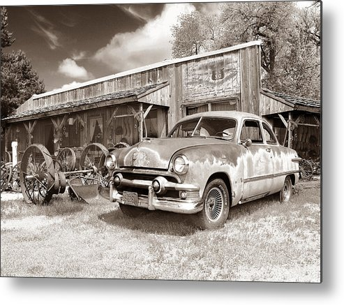 Antiques Metal Print featuring the photograph Roadside Antiques by John Anderson