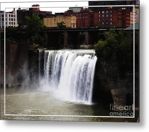 High Falls Metal Print featuring the photograph Rochester Ny High Falls by Rose Santuci-Sofranko