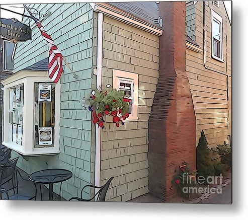 Streetscape Metal Print featuring the photograph Rockport Streetscape by Phil Campanella