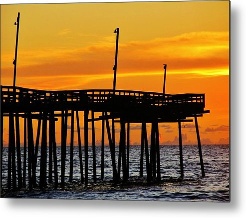 Landscapes Metal Print featuring the photograph Rodanthe Pier by Thomas McGuire