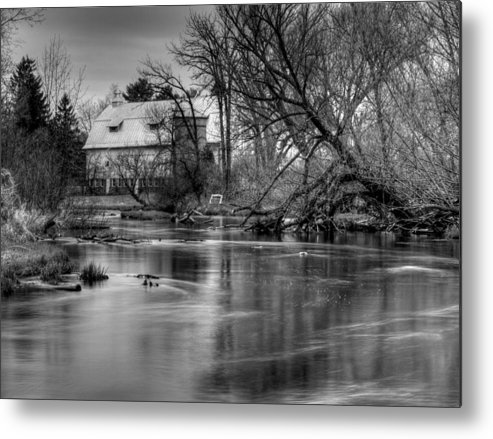 Farm Metal Print featuring the photograph Rose Farm Black And White by Thomas Young