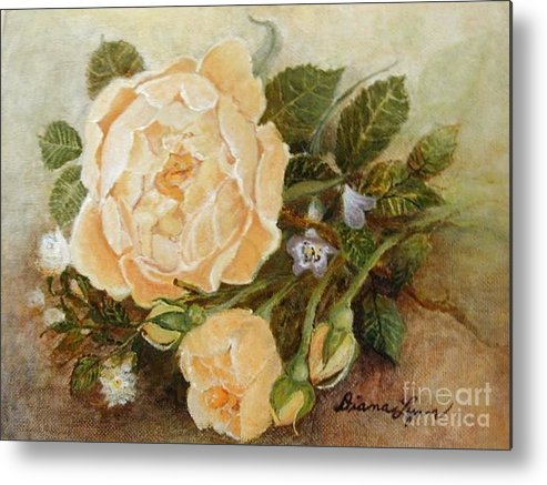 Rose Painting Metal Print featuring the painting Roses Sublime by Diana Besser