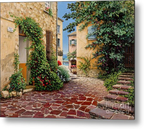 French Village Metal Print featuring the painting Rue Anette by Michael Swanson