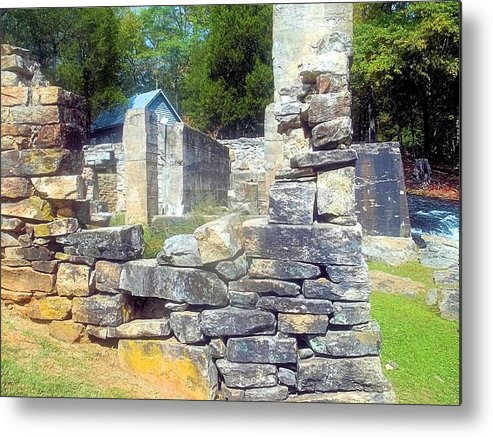 Cosley Mill Metal Print featuring the photograph Ruins At Cosley Mill by James Potts