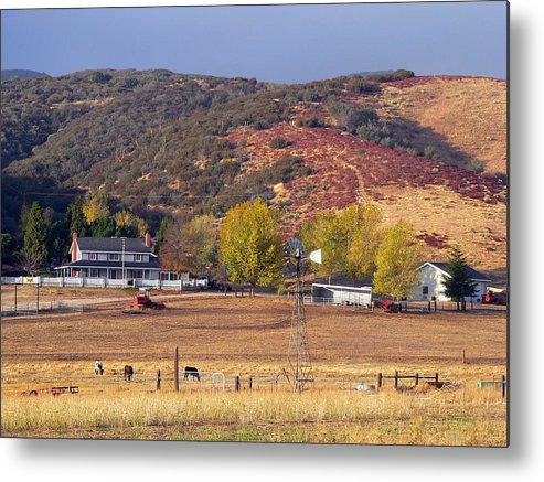Rural Metal Print featuring the photograph Rural California Ranch by Jeff Lowe