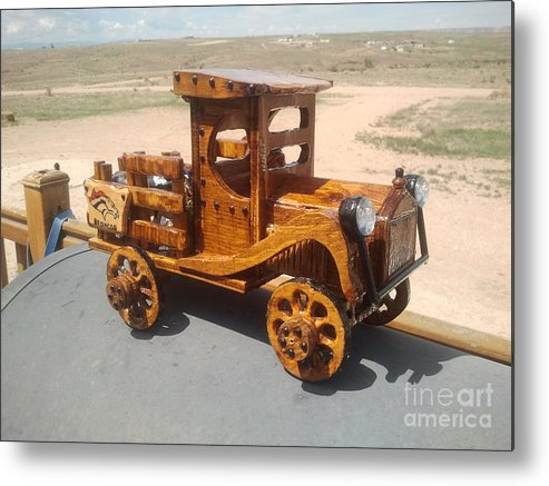 This Is A Wooden Truck I Had Designed And Built Metal Print featuring the photograph Rustic Wizard by Greg Davis