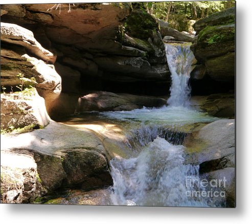 Fall Metal Print featuring the photograph Sabbaday Falls Gorge by Christiane Schulze Art And Photography
