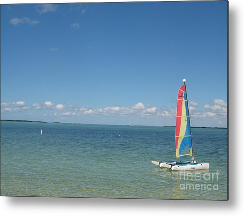 Sailing Metal Print featuring the photograph Sailing At Key Largo by Christiane Schulze Art And Photography