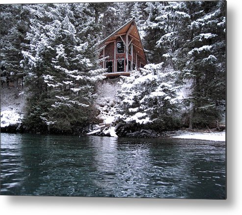 Alaska Winter Metal Print featuring the photograph Sanctuary In Winter by Rick and Dorla Harness
