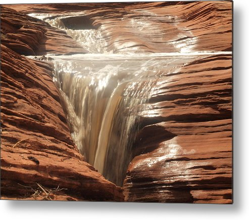 Landscape Metal Print featuring the photograph Sandstone Waterfalls by Martin Micale