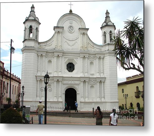 Building Metal Print featuring the photograph Santa Rosa Cathedral by Lew Davis