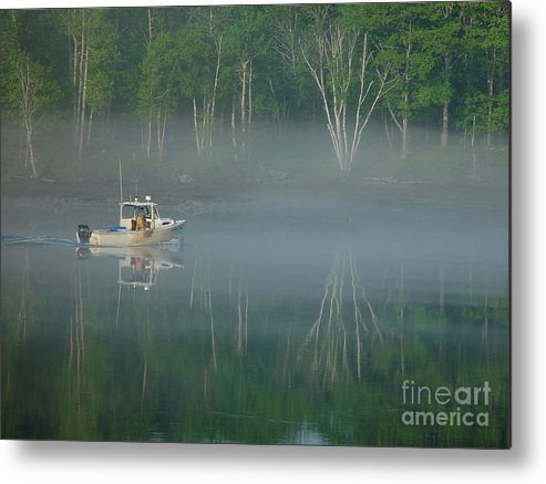 Reflections Metal Print featuring the photograph Searching For The Buoy by Christopher Mace
