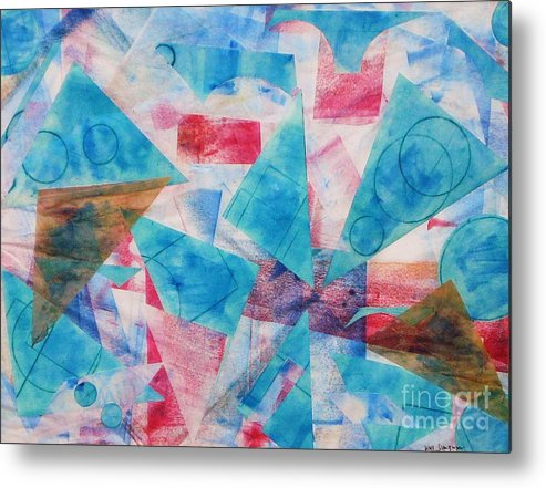 Collage Metal Print featuring the painting Serendipity by Yael VanGruber