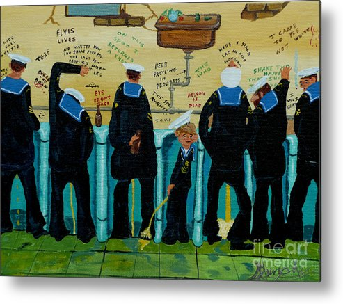 Sailors Metal Print featuring the painting Seven Sailors by Anthony Dunphy
