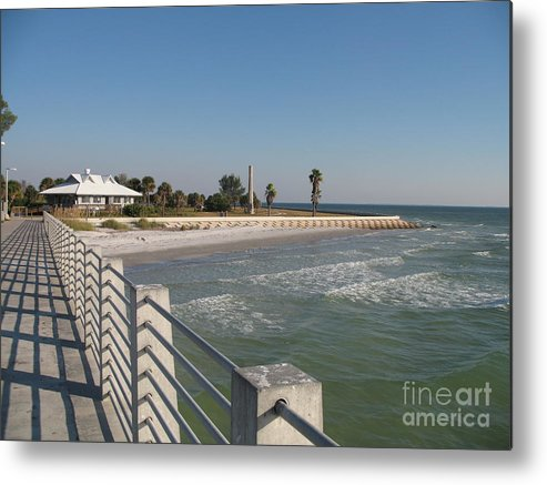 Pier Metal Print featuring the photograph Shadow On The Pier by Christiane Schulze Art And Photography