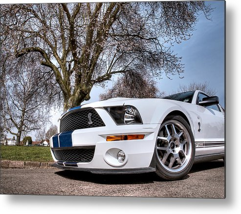 Shelby Mustang Metal Print featuring the photograph Shelby On The Village Green by Gill Billington