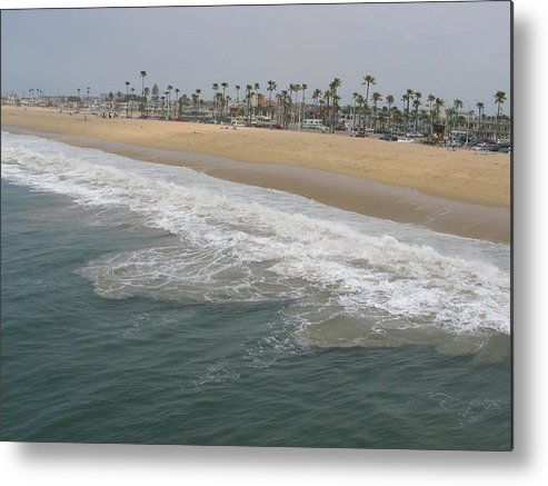 Landscape Metal Print featuring the photograph Shoreline Newport Beach by Phyllis Tarlow