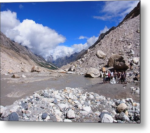 Himalayas Metal Print featuring the photograph Singing In Devotion by Agnieszka Ledwon